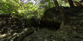 Cave where students from Okinawa normal school died